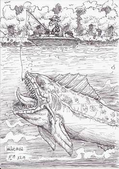 InkArt #62: Der alte Mann und der Teich