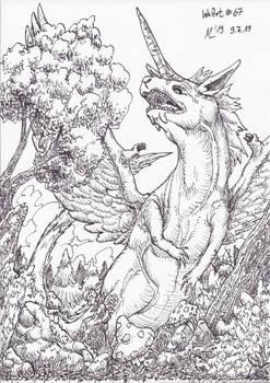 InkArt #67: Einhornpegasusdrache