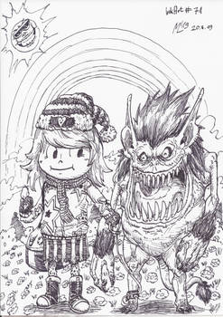 InkArt #71: Monsterfreunde! #3