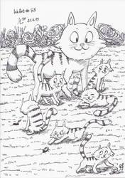 InkArt #73: Katzenfamilie