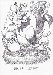 InkArt #74: Vogelschar