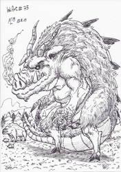 InkArt #75: Wildschweindrache