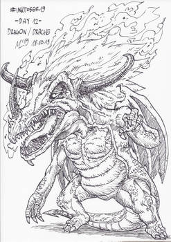 #INKTOBER19 Day 12: Dragon