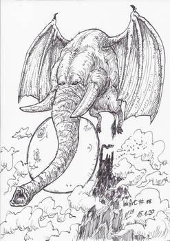 InkArt #88: Flederfant