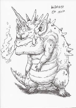 InkArt #90: Grummeldrache