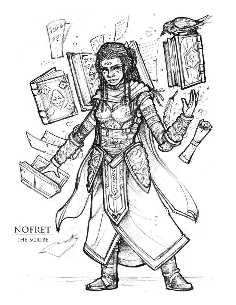 Nofret The Scribe by Briansbigideas