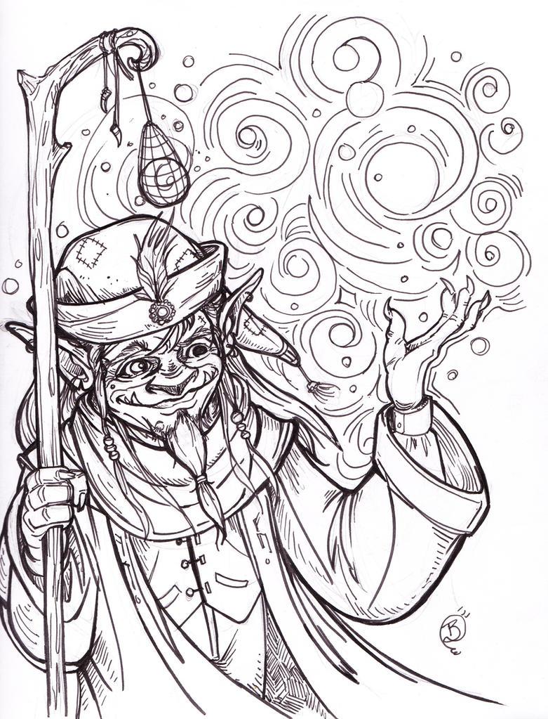 Inktober 3 Goblin by Briansbigideas
