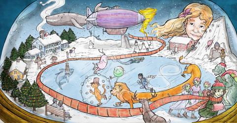 The Snow Globe_Portland Children's Museum Mural