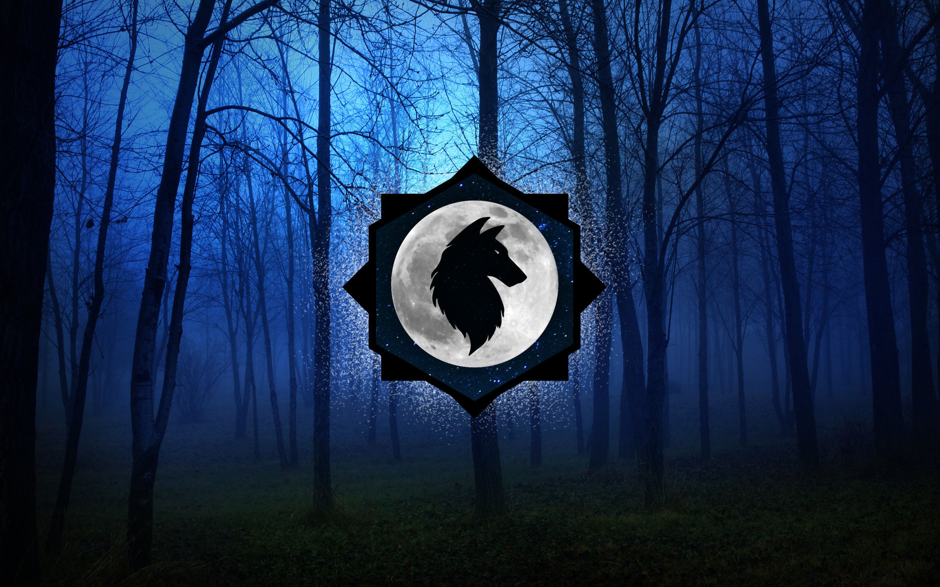 Lycaonzz Background Wolf Logo Wallpaper By Lycaonzz On