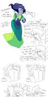 Peacock Diamond doodles