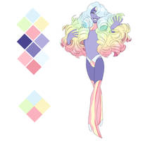 Diamond OC Rainbow Diamond ADOPTABLE by Pikokko
