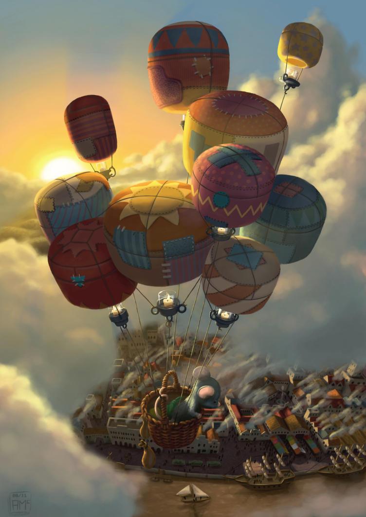 Way Up High by AndrewMcIntoshArt