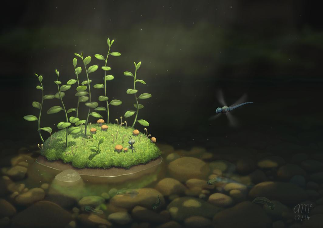 The Island by AndrewMcIntoshArt