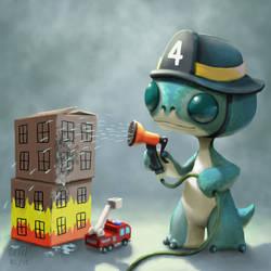 Hugo Fireman by AndrewMcIntoshArt