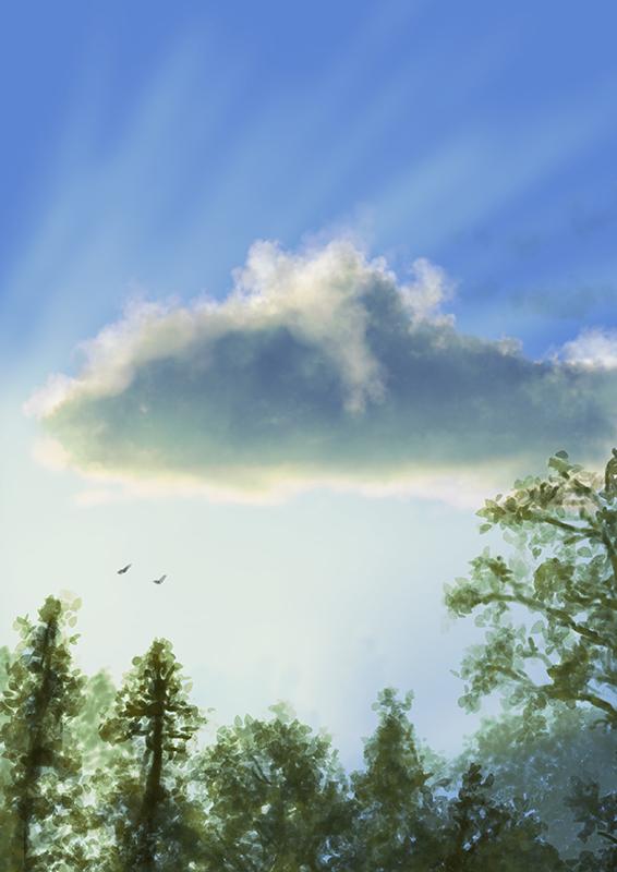 Cloud study by AndrewMcIntoshArt