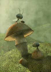 Tiny Life Series - 004 by AndrewMcIntoshArt