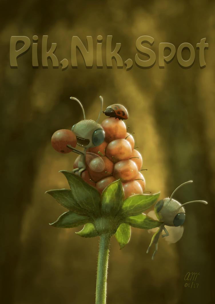 Tiny Life Series - 005 - Pik Nik Spot by AndrewMcIntoshArt