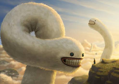 Fuzzy Cloud Worms