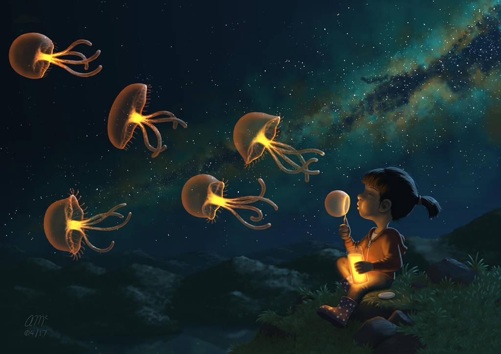 Jellies by AndrewMcIntoshArt
