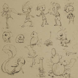 Holiday Sketches 001