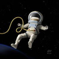 Peep - Space by AndrewMcIntoshArt