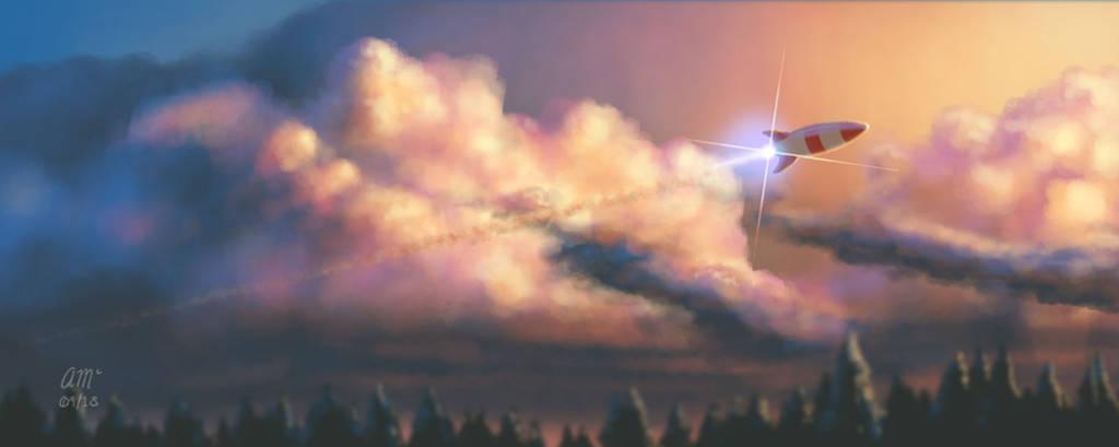 Cloud and Light Study by AndrewMcIntoshArt