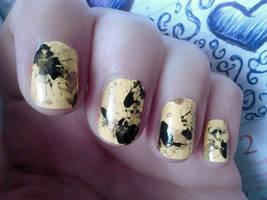 31 Week Nail art challenge: Week 3 Yellow Nails by LittleAndzia