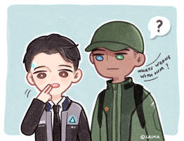 Connor and Markus by janpancake