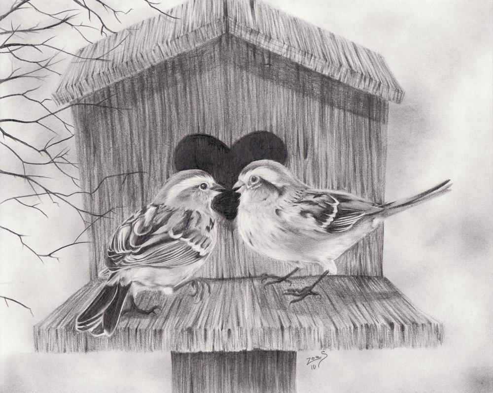 Sparrows by ZoeStanleyArts
