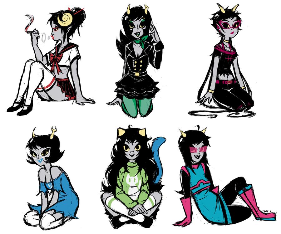 Alpha Troll Girls by ZoeStanleyArts