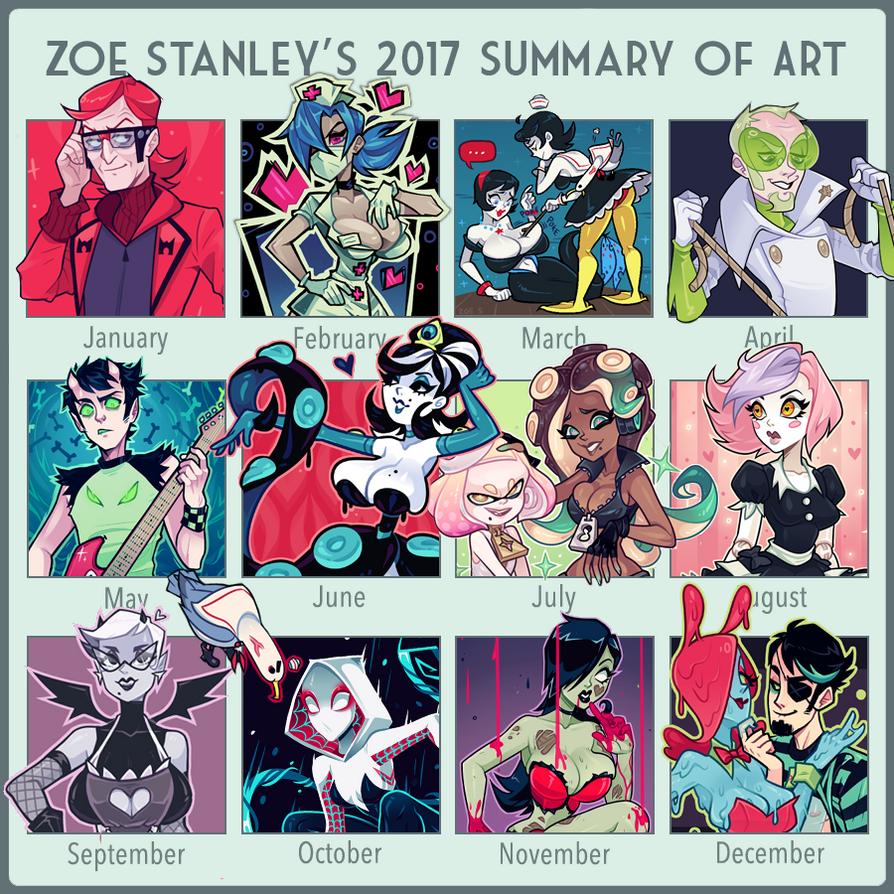 2017 Summary of Art by ZoeStanleyArts