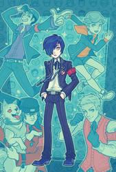 Persona 3 Guys by ZoeStanleyArts