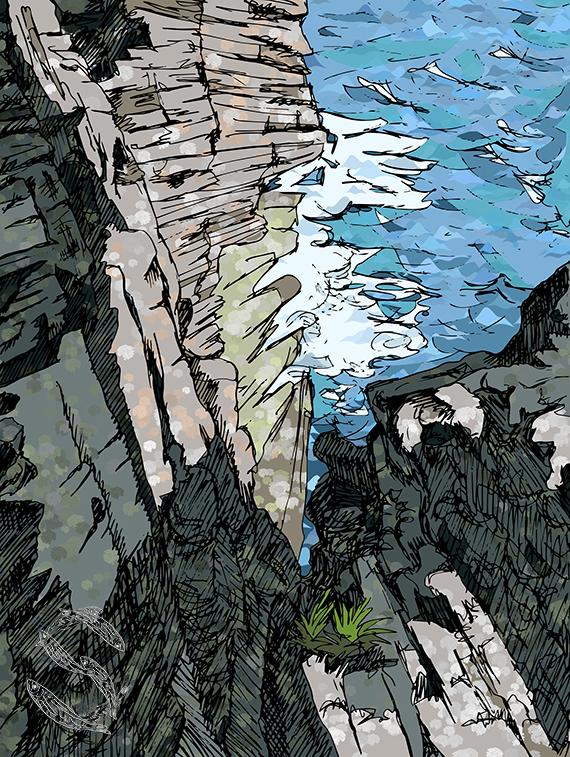 Orkney Cliffs by Sildilart