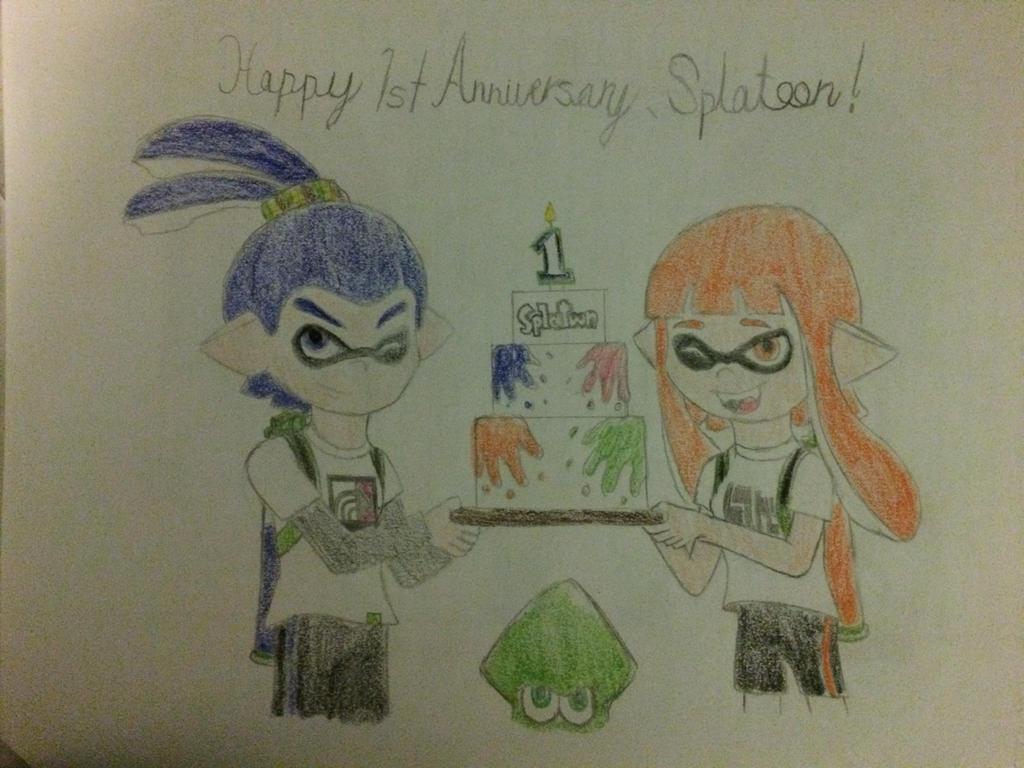 Happy st anniversary splatoon by supermlbros on deviantart