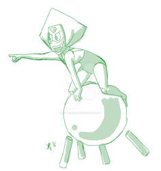Peridot and her Robonoid by Ambrosiaria