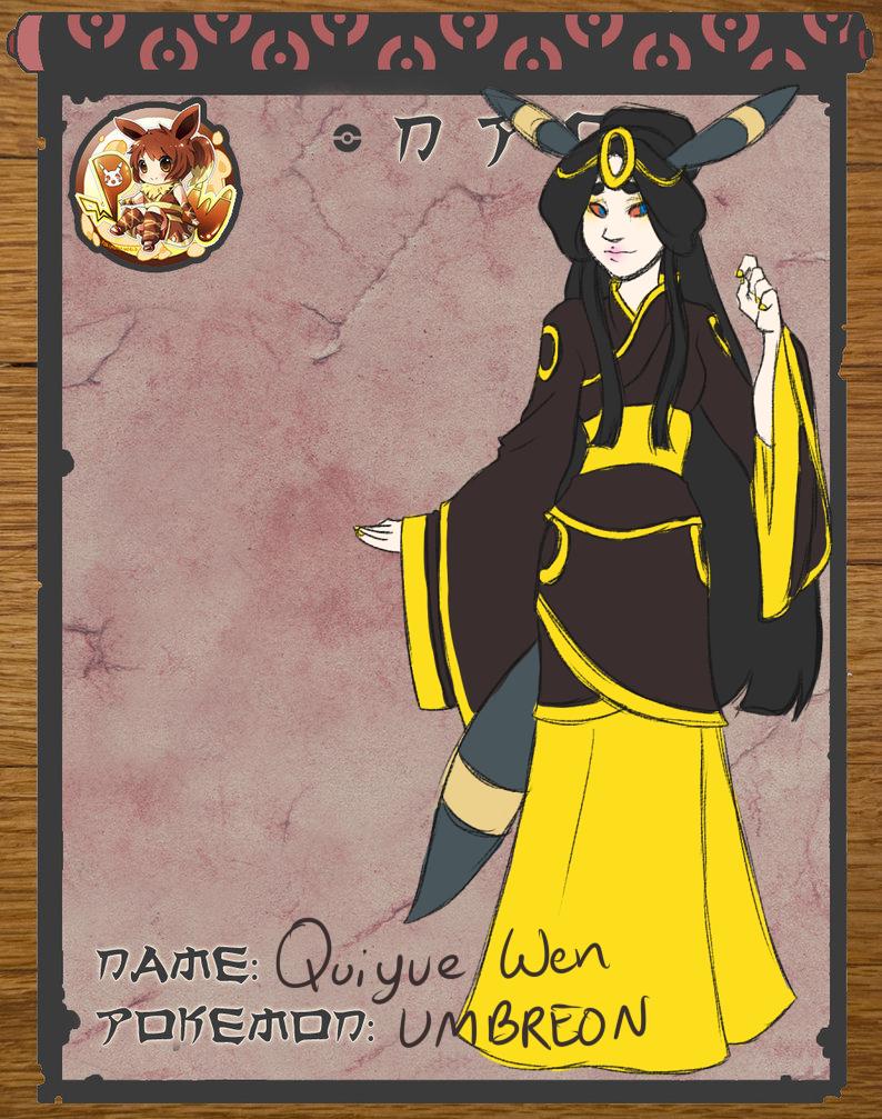 Pokimono NPC Application: Qiuyue Wen by NeonMace