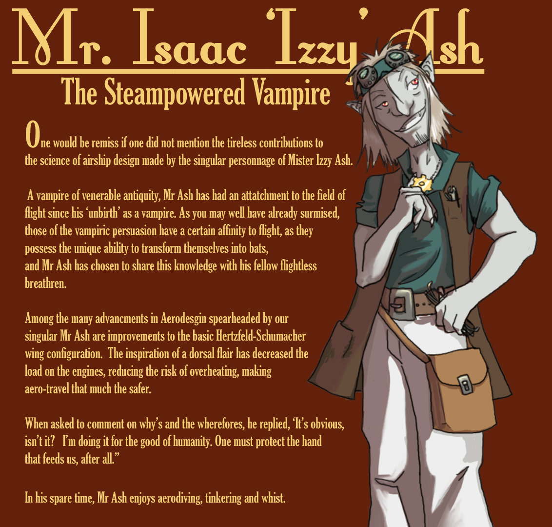 Isaac Ash - The Steam Vampire by mllebienvenu