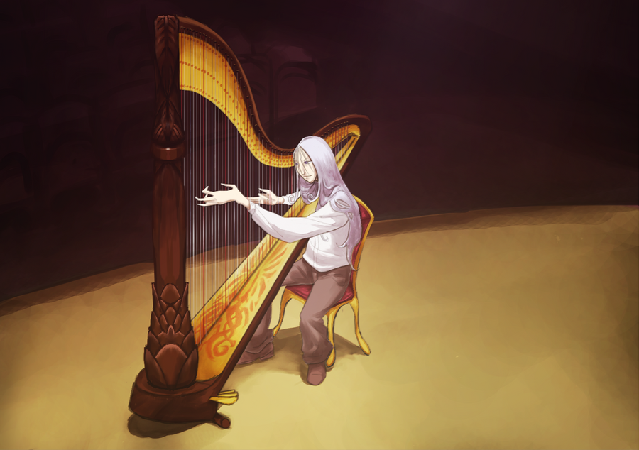 Izzy with a Harp (spoiler free) by mllebienvenu