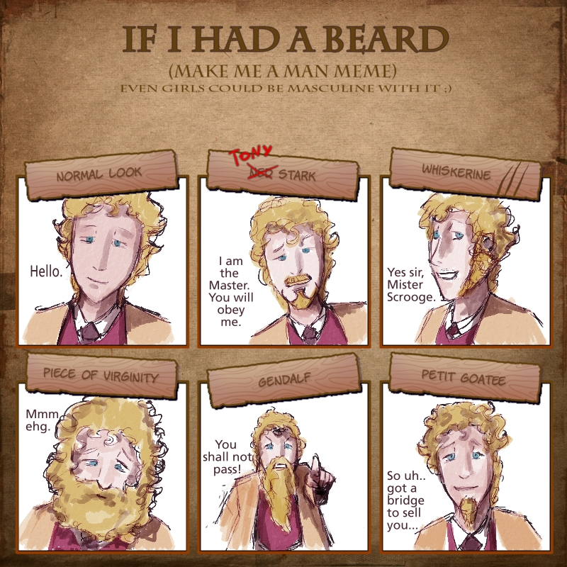 Igloinor's Beard Meme - Campbell by mllebienvenu