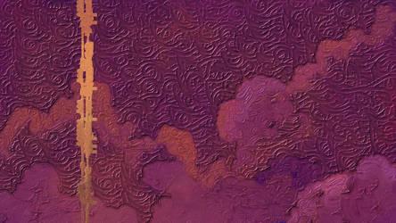 Purple Impasto Clouds