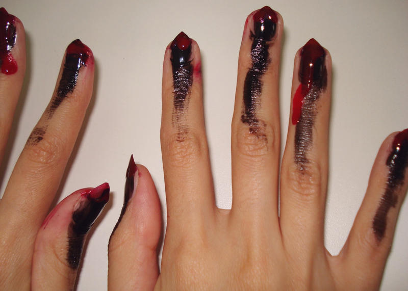Halloween Nails by Sayuni on DeviantArt