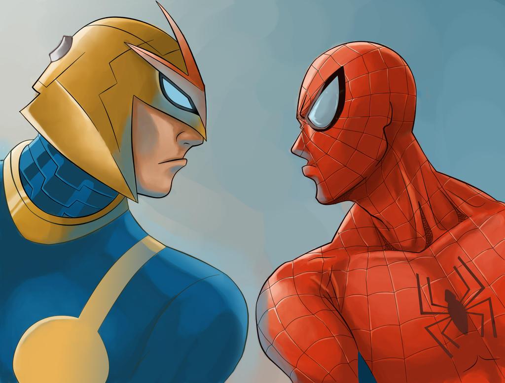 Nova and spidey by iannoviar on deviantart - Nova ultimate spider man ...