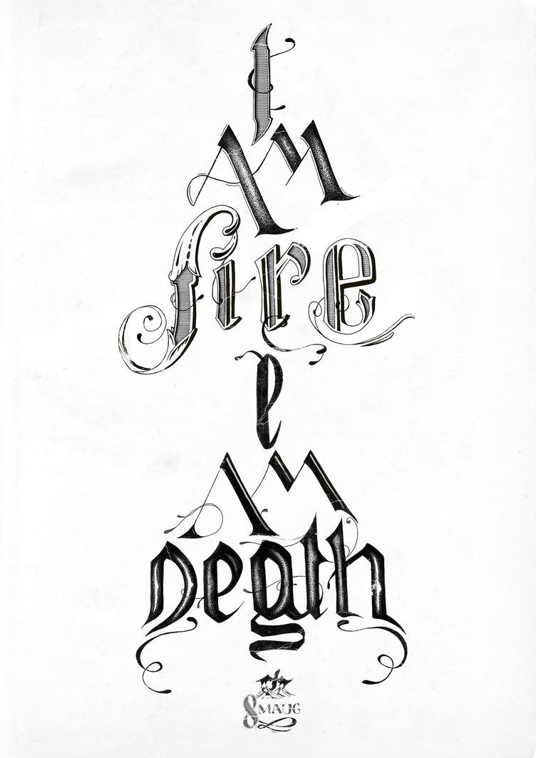 Smaug Typography Poster by nadineballantyne