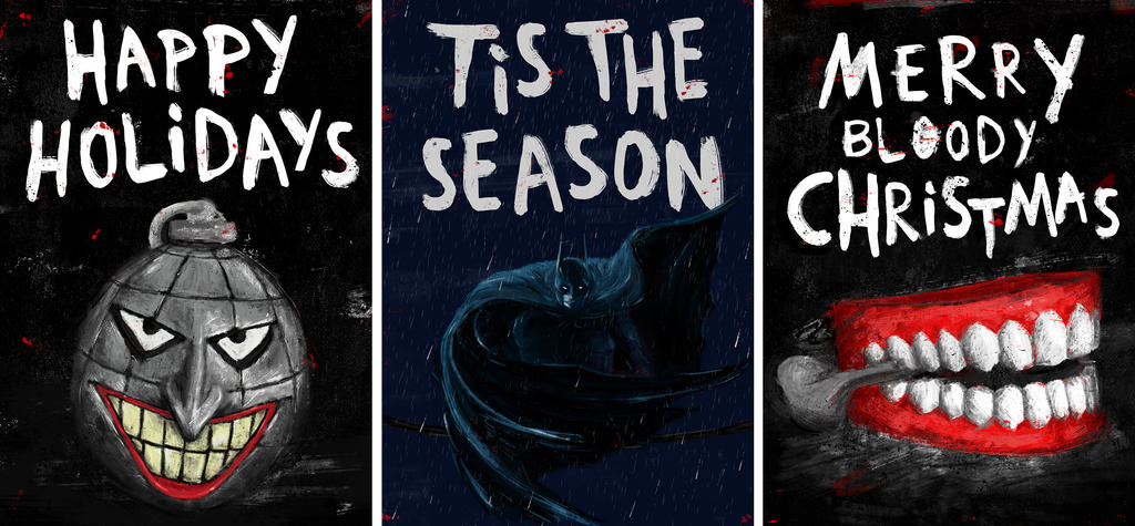 Batman Christmas Cards by nadineballantyne