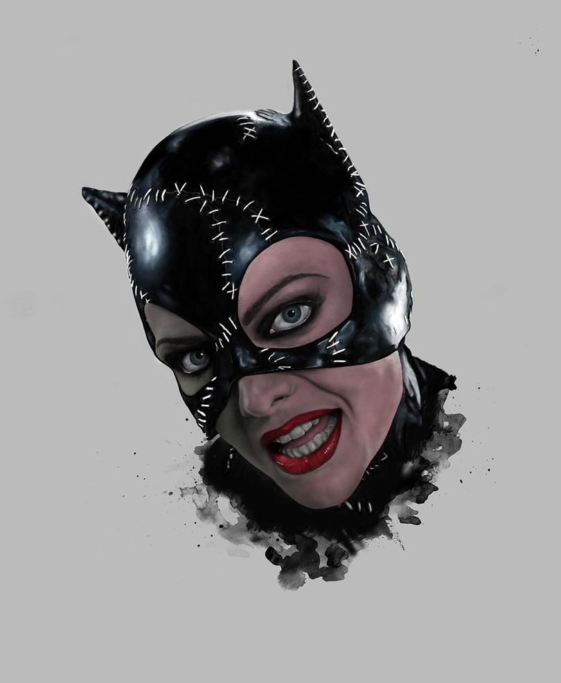 Catwoman - Digital Portrait by nadineballantyne