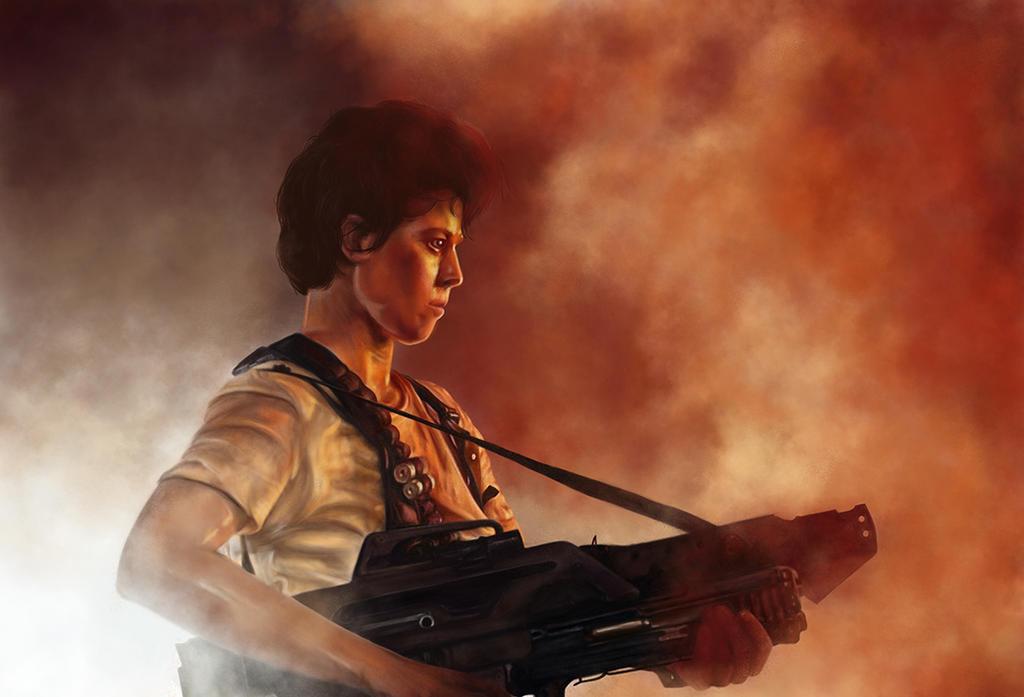 Ripley - Digital Painting by nadineballantyne