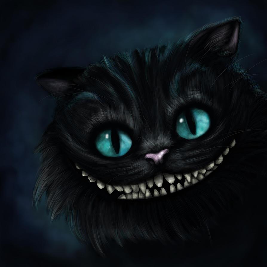 Cheshire Cat Digital Painting by nadineballantyne