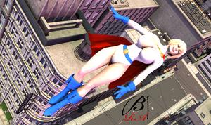 PowerGirl - Flying