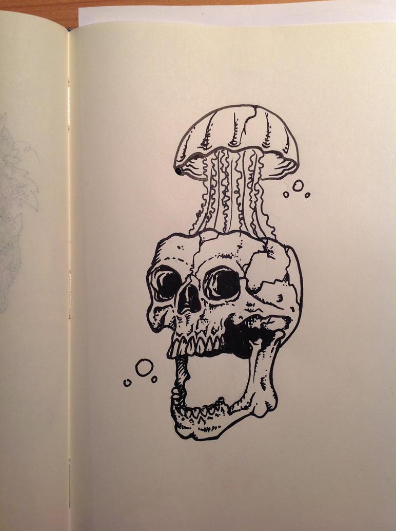Jellyfish skull by juliusllopis