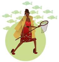 catch a fish by MissMatzenbatzen